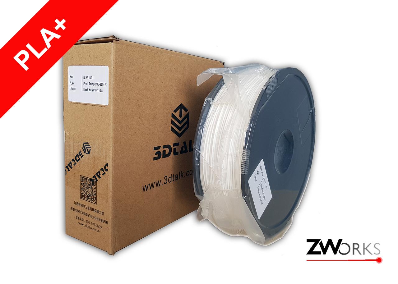 Filamento para impresoras 3D PLA+ 1,75 mm Bobina 1 kg Color blanco