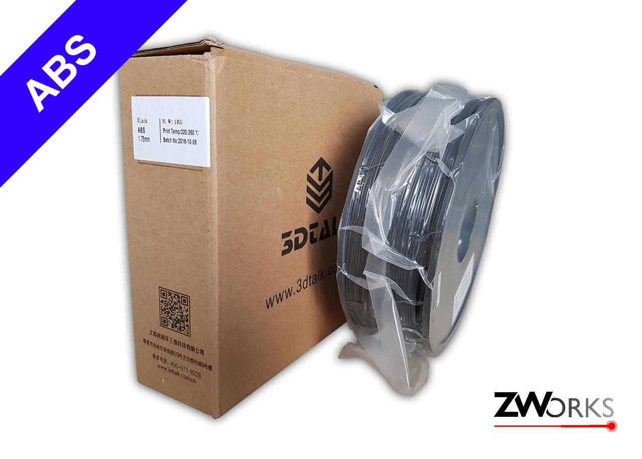 Filamento para impresoras 3D, ABS, 1,75 mm Bobina 1 kg Color negro
