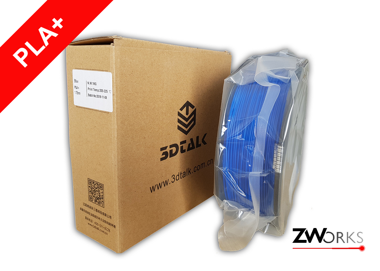 Filamento para impresoras 3D PLA+ 1,75 mm Bobina 1 kg Color azul
