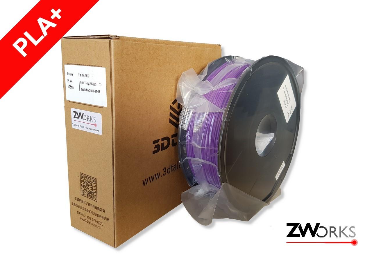 Filamento para impresoras 3D PLA+ 1,75 mm Bobina 1 kg Color violeta