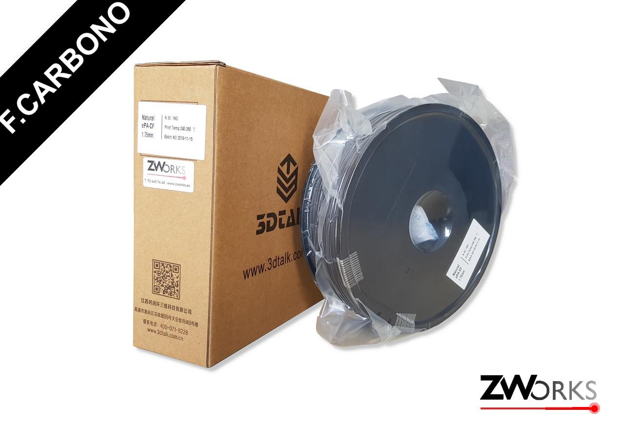 Filamento para impresoras 3D Fibra de Carbono 1,75 mm Bobina 1 kg Color Natural